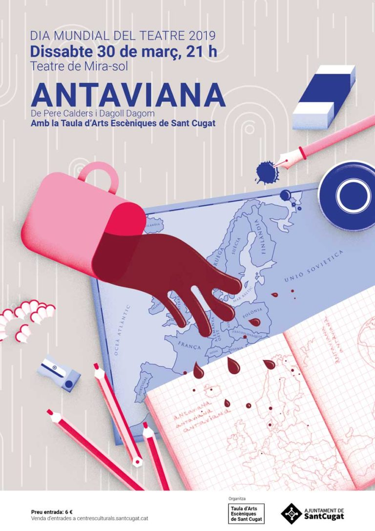 """Cartell de l'obra """"Antaviana"""""""