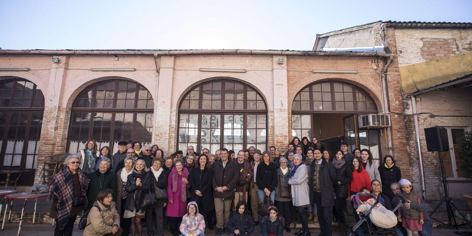 Acte de La Unió abans d'iniciar el projecte de remodelació de la seva seu a La Unió Santcugatenca
