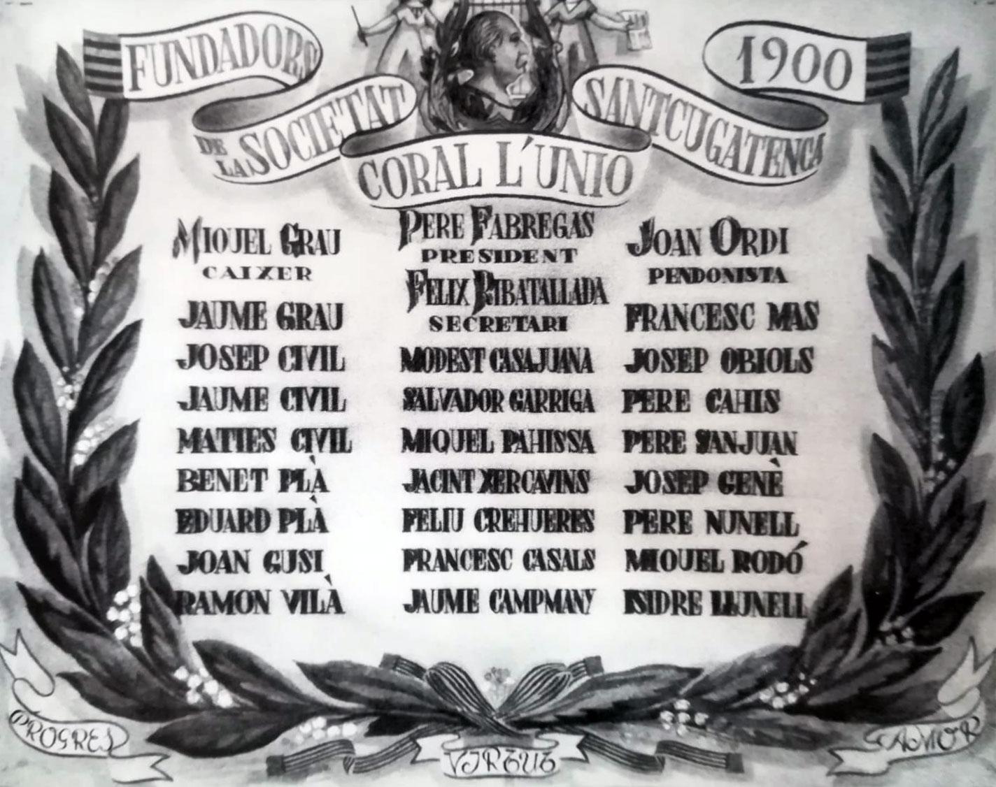 Socis fundadors de l'entitat el 1900