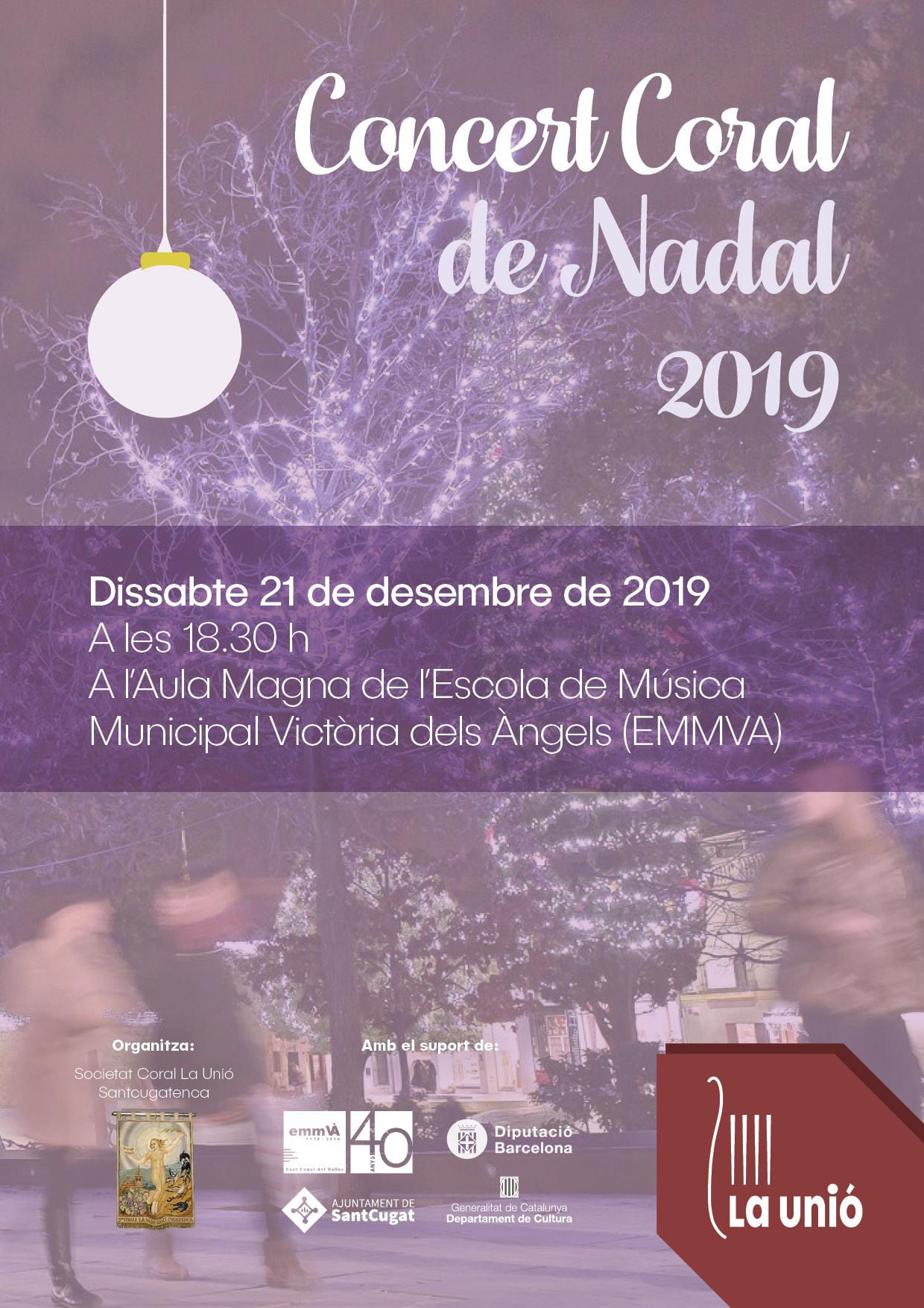 Cartell del concert de Nadal de la Coral La Unió