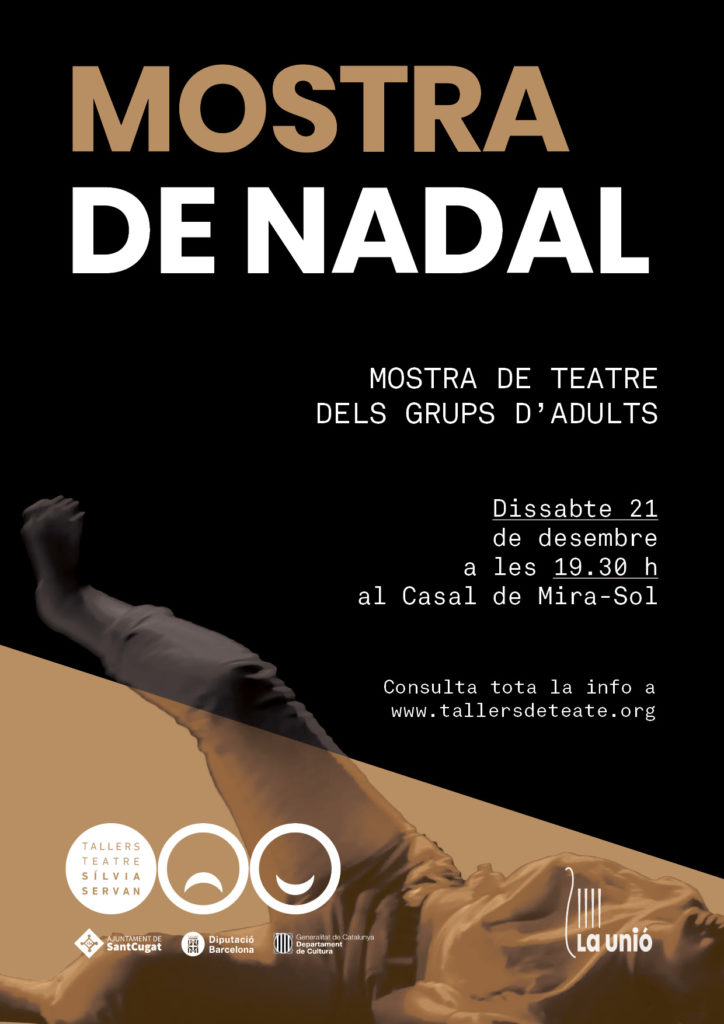 Cartell de la Mostra de Nadal dels grups d'adults de Tallers de Teatre